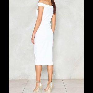 Nastygal white dress NWT